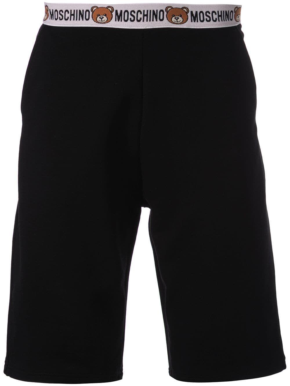 6c0a0dba20 MOSCHINO MOSCHINO TEDDY BEAR TRIMMED SHORTS - BLACK. #moschino #cloth