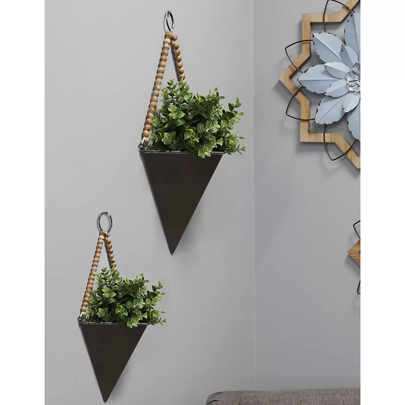 Gizela 2 Piece Iron Wall Planter Set In 2020 Wall Planter Plant Wall Wall Plant Holder