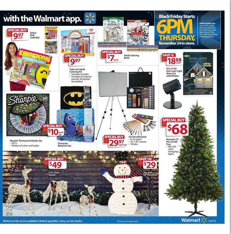 Pin By Darlene Morgan Steward On Walmart Flyer Walmart Black Friday Ad Black Friday Ads Sharpie Marker
