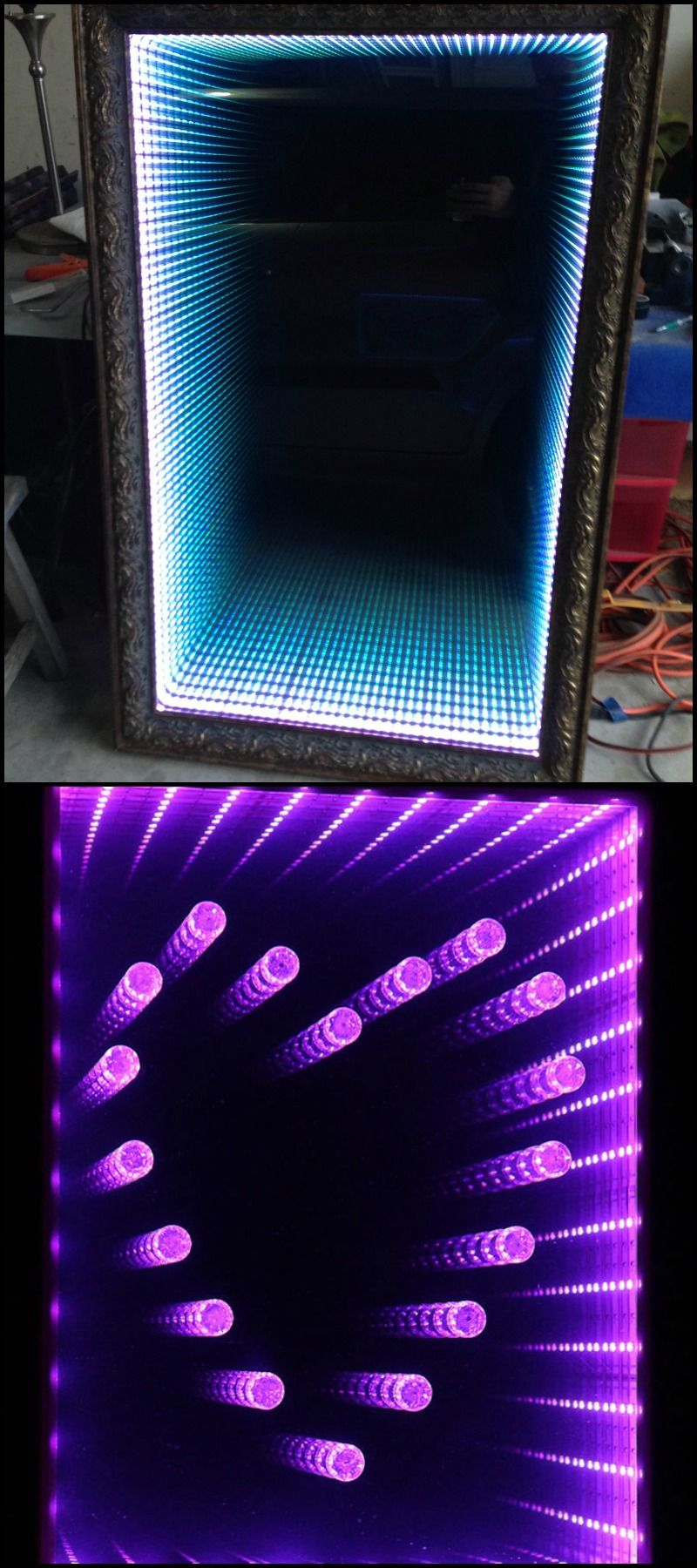 Learn How To Make An Infinity Led Mirror Http Theownerbuildernetwork Co Y4fz Have You Got A B Miroir A Faire Soi Meme Idee De Decoration Eclairage Corniche
