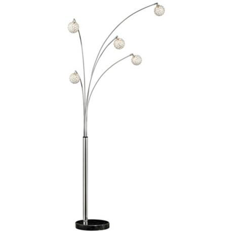 Possini Euro Design Allegra Crystal Ball Arc Floor Lamp Style