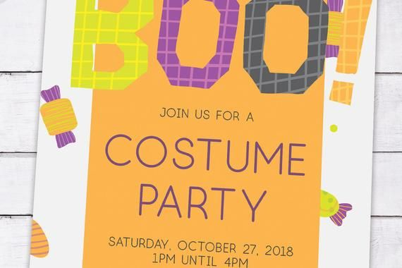 Editable Halloween Invites Costume Party Invite Spooky