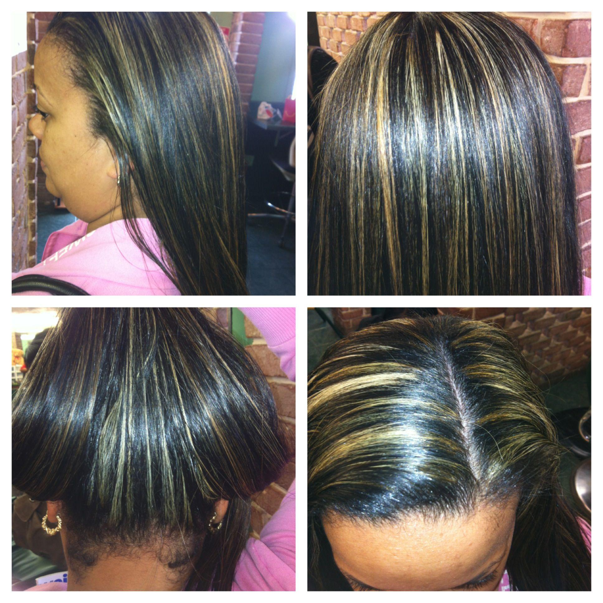Natural Hair Highlights Flat Iron Hair Styles Hair Highlights Natural Hair Styles