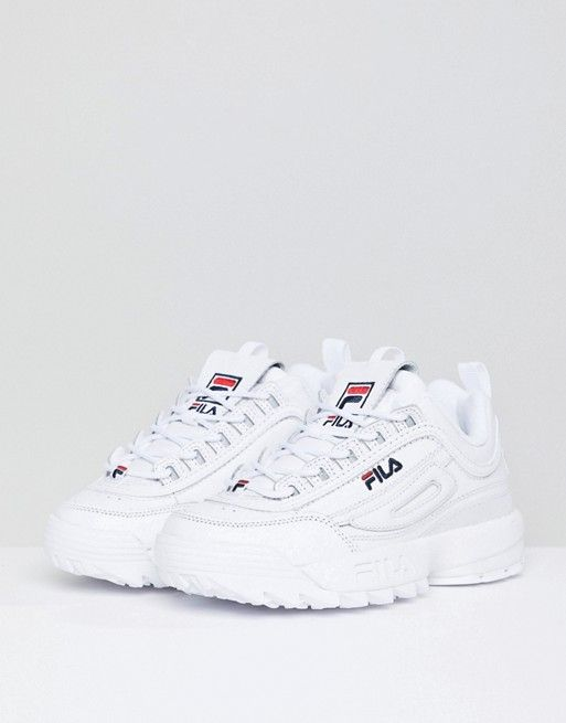 Fila Disruptor Trainers In White | ↠SHOES↞ in 2019 ...