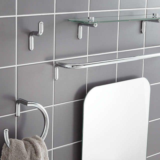 John Lewis Partners Flow Single Robe Hook Black Bathroom Towel Rails Ideal Bathrooms Bathroom Accessories