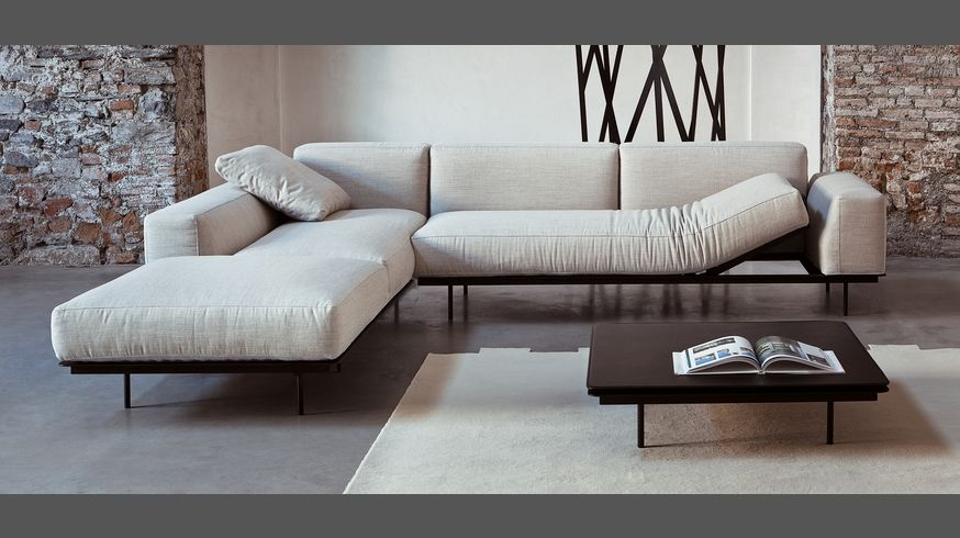 535 Sit Up Divano Reclinabile Componibile In Tessuto Pelle