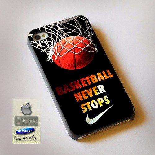 never stop nike basketball print on hard plastic for