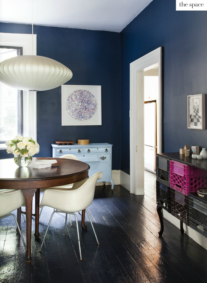 Love This Dark Blue Maybe For Our Dining Room Or Even Bedroom