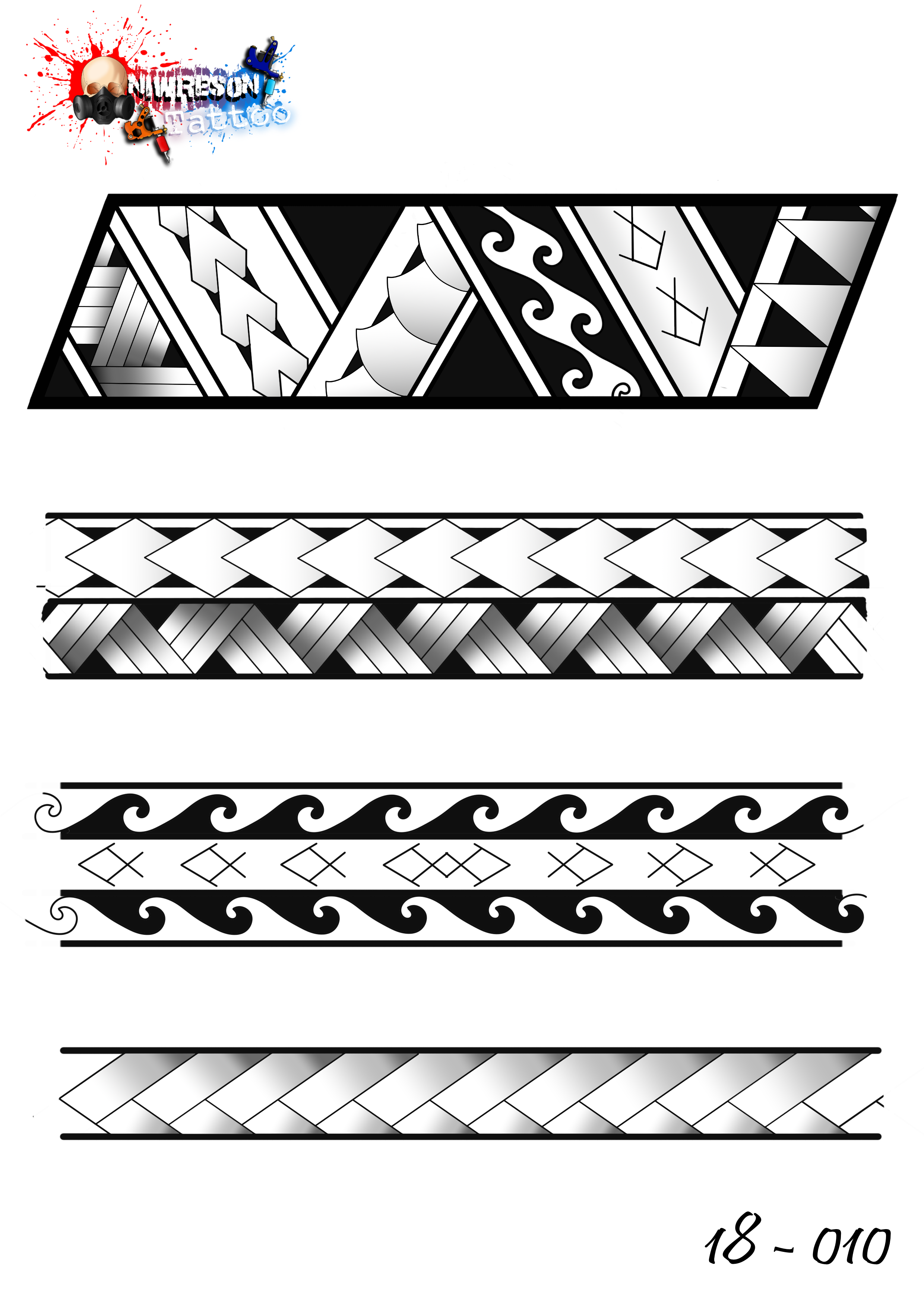Maori Band Tattoo Design: Maori Tattoo Designs New Zealand