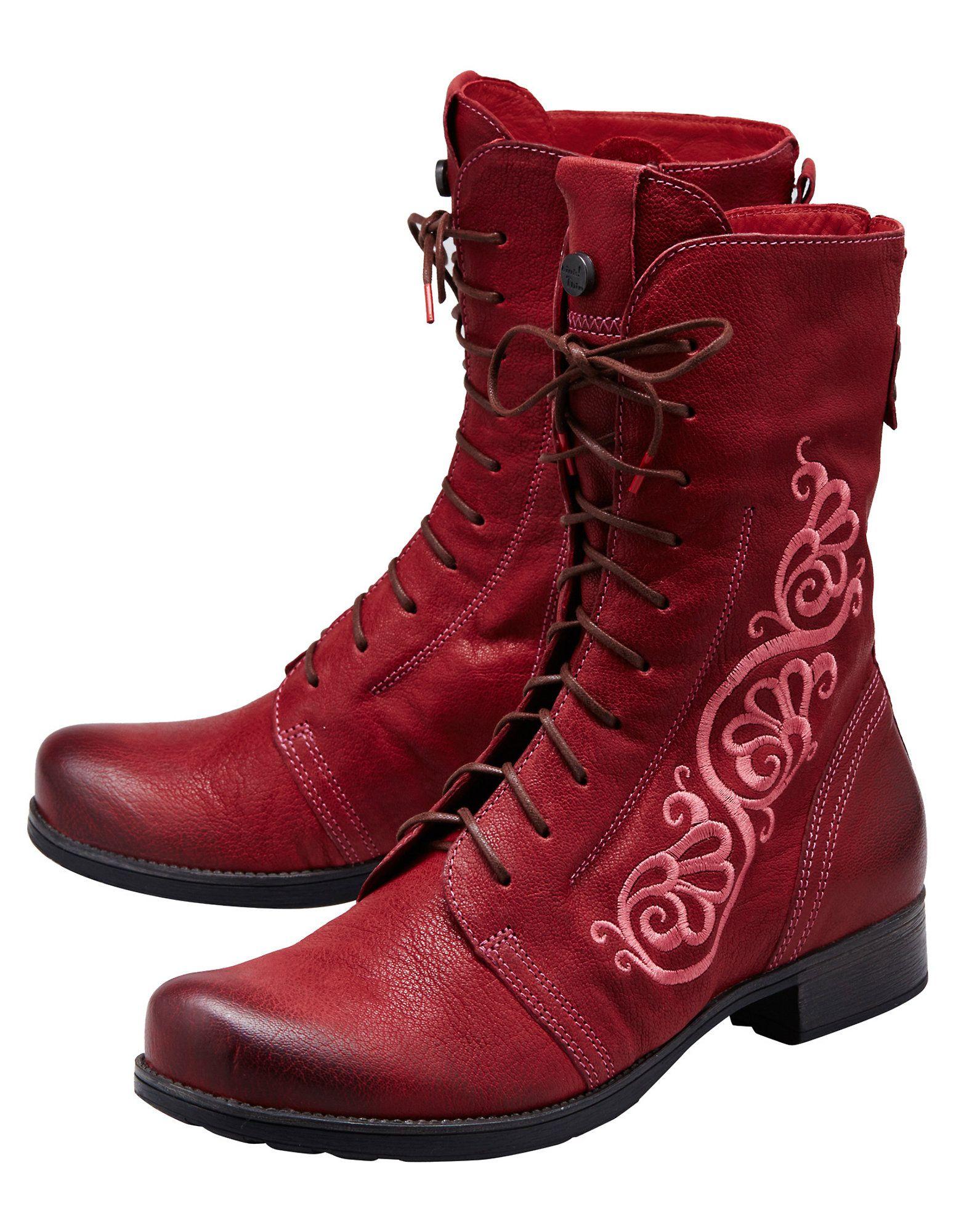 size 40 61897 9bb61 Think Stiefeletten Rentje, bordeaux | Boots | Think schuhe ...