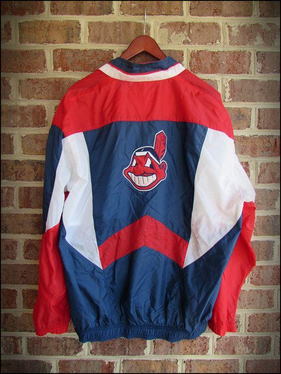 9e423b4f Vintage 90's Starter MLB Cleveland Indians Jacket by RackRaidersVintage,  $22.00