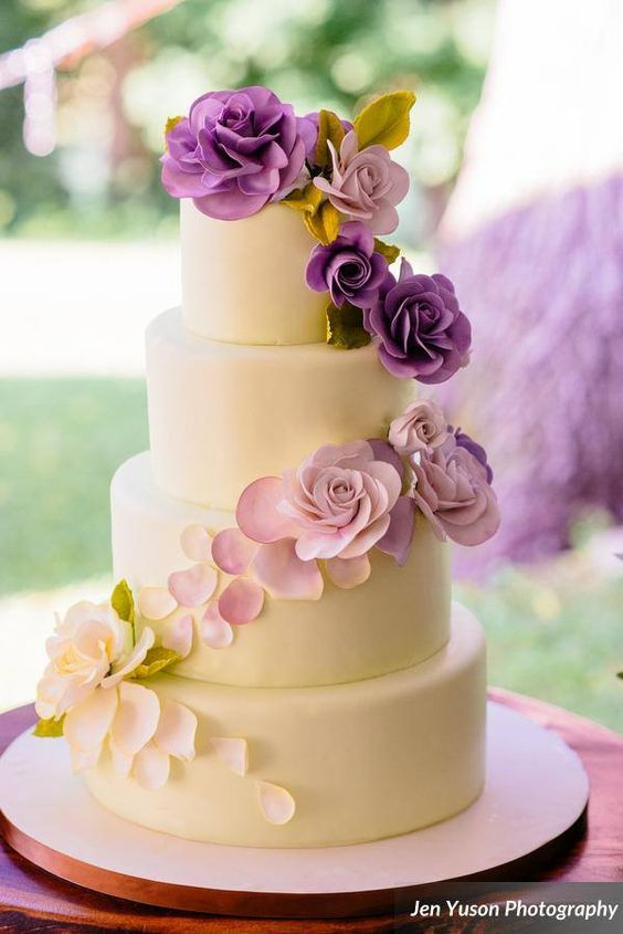 How Much Does A Wedding Cake Cost Wedding Cake Fresh Flowers Wedding Cake Cost Purple Wedding Cakes