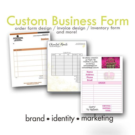 Custom Business Form   Order Form   Invoice Design   Digital on - create your own invoices