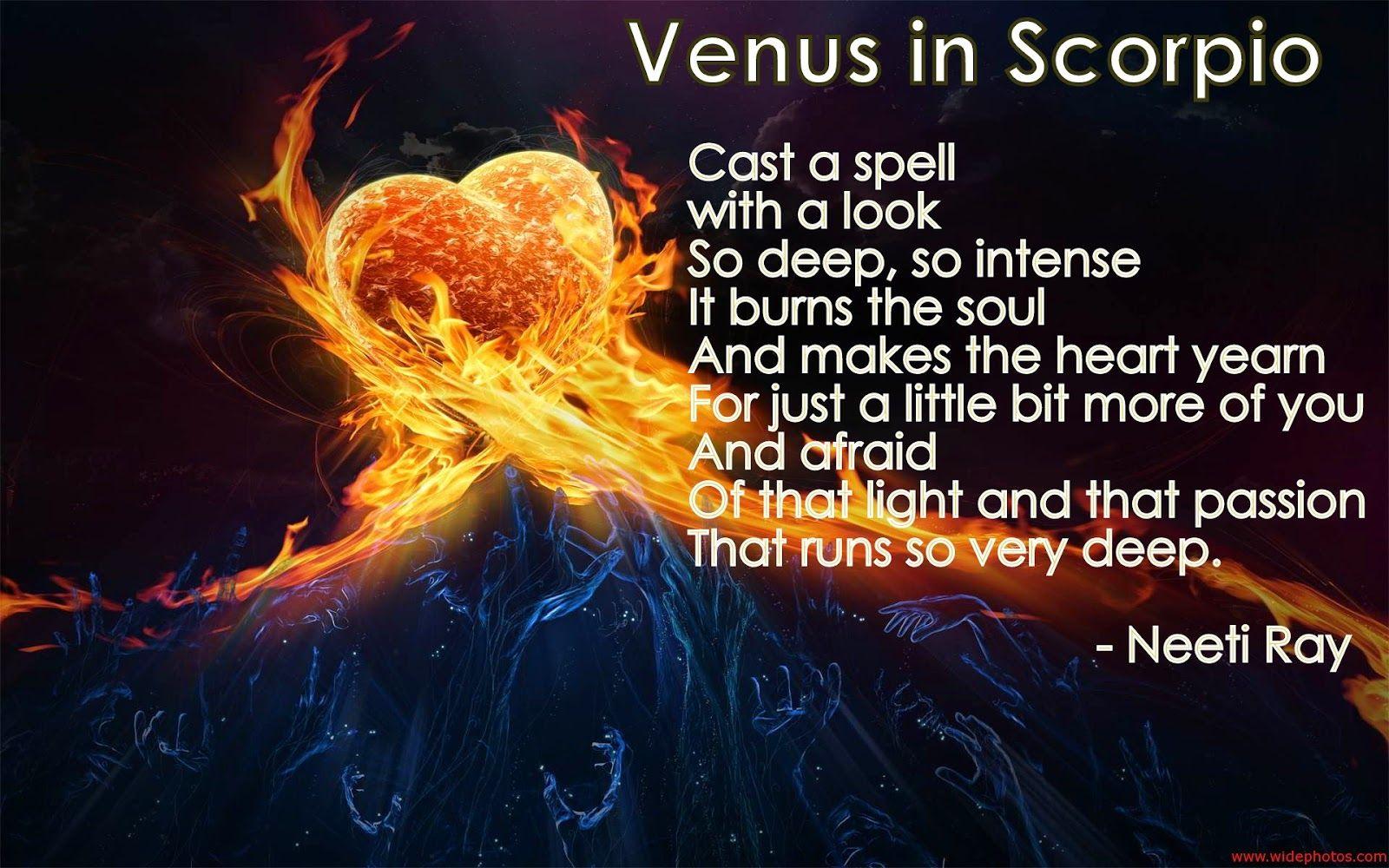 Astrolina: Venus in Scorpio Peom   Venus in scorpio