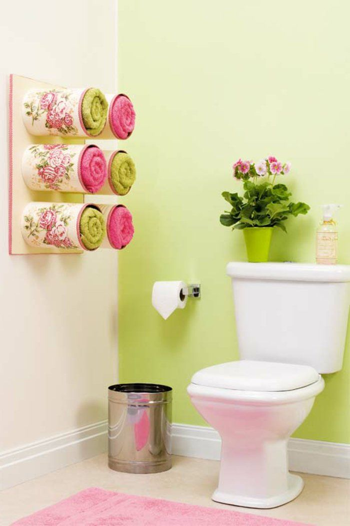 Kreatives Basteln Badezimmer Gestalten Stauraum Tücher