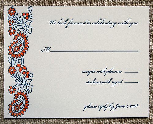 wording for wedding response cards hindu wedding invitations wording
