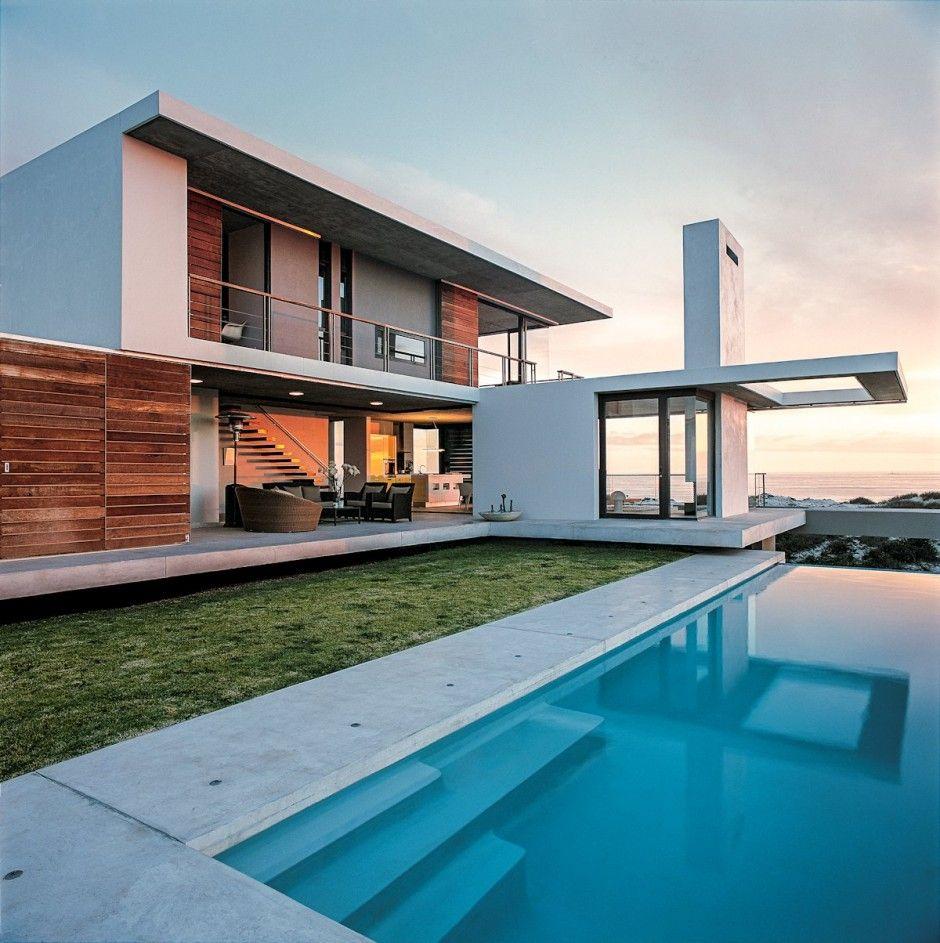 Fachada de casa moderna   Casas   Pinterest   Fachadas de casas ...