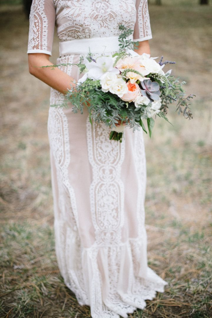 Bride in BHLDN wedding gown | fabmood.com #wedding #rusticwedding #weddingstyle #ido #weddinginspiration