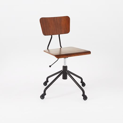 Adjustable Industrial Office Chair West Elm Top Of The List