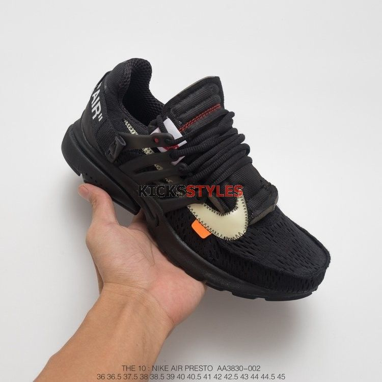 new style f2384 df9f6 Off-White x Nike Air Presto Black 2.0 AA3830-002