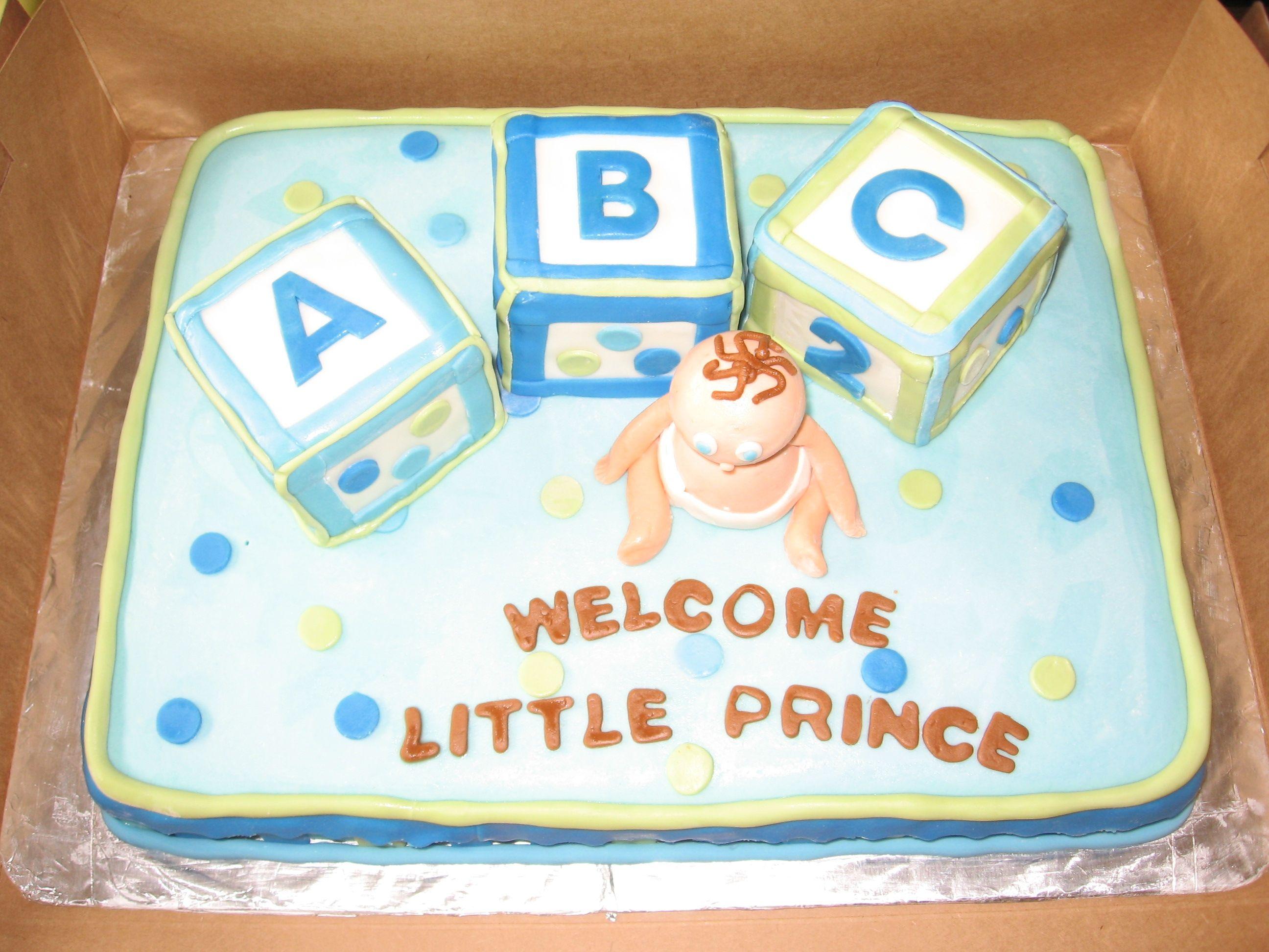 abc block cake Baby Shower ABC Blocks — Baby Shower