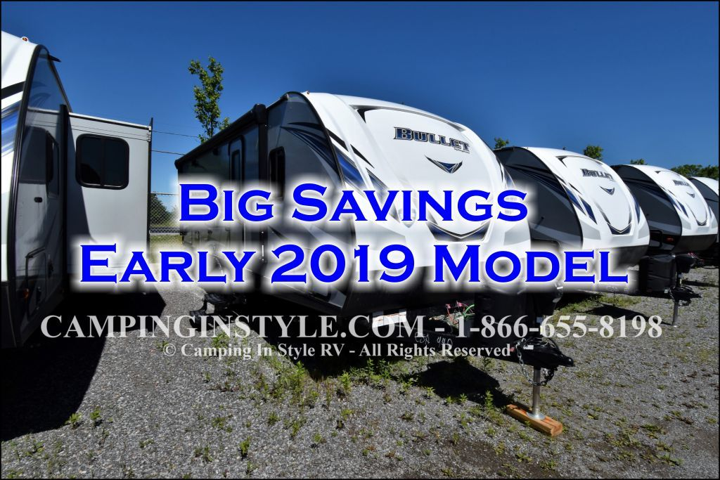 Details For 2019 Keystone Bullet 257rss Couples At Camping In Style Clearance Priced 28 995 Keystone Bullet Rv Types Camping Trailer