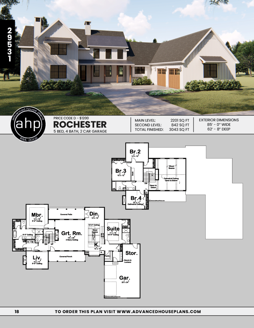 1 1 2 Story Modern Farmhouse House Plan Rochester Modern Farmhouse Exterior Modern Farmhouse Plans Farmhouse House
