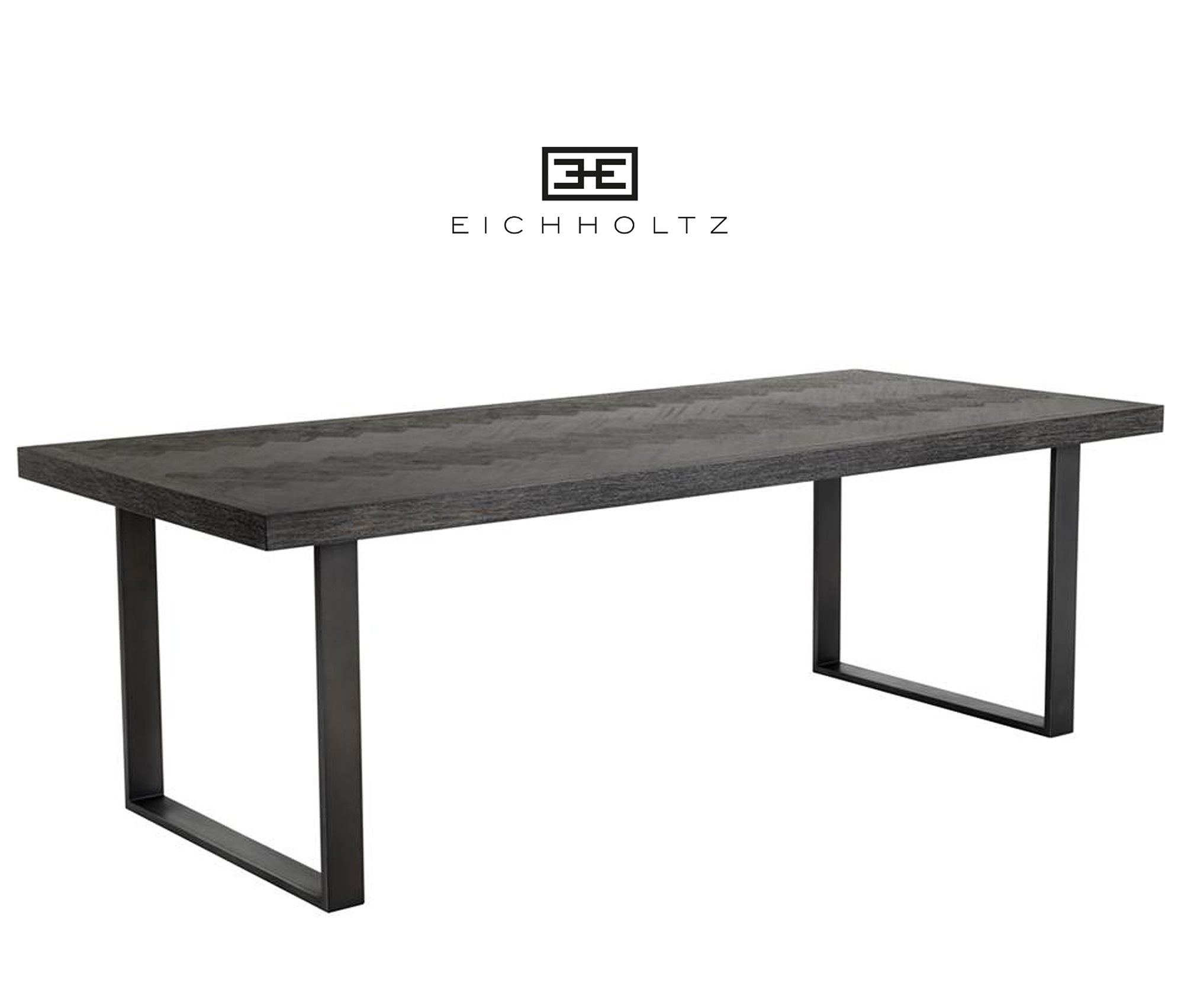 Eiken Fineer Tafel.Eichholtz Dining Table Melchior 230cm Eettafel Zwart Zwart