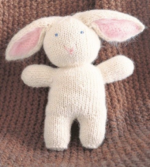 A cuddly and quick easter project knitted rabbit from joelle a cuddly and quick easter project knitted rabbit from joelle hoversons last minute knitted gifts negle Choice Image