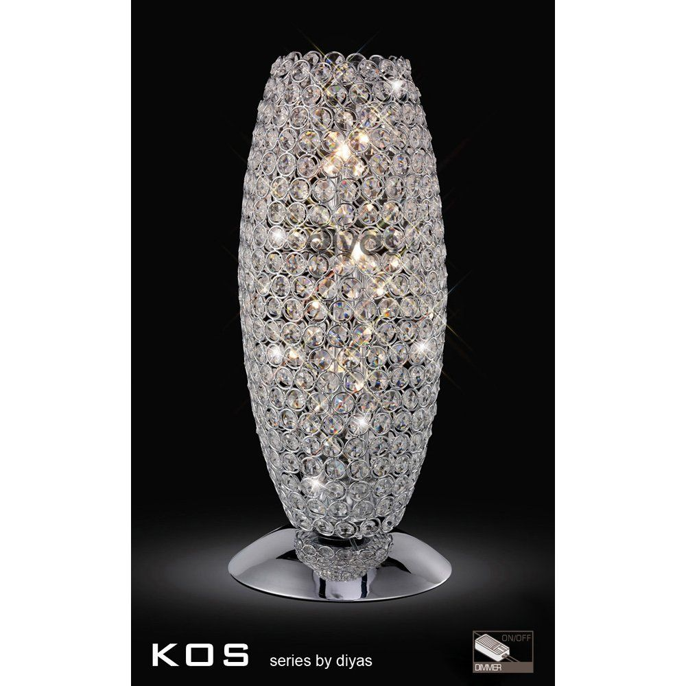 Diyas Kos Crystal Table Lamp