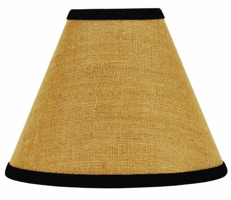 Home Collection by Raghu Home Newbury Gingham Black Lampshade 12,