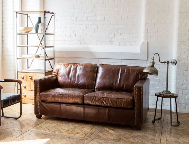 Boston 2 Seater Leather Sofa, Vintage Cigar   An eclectic ...