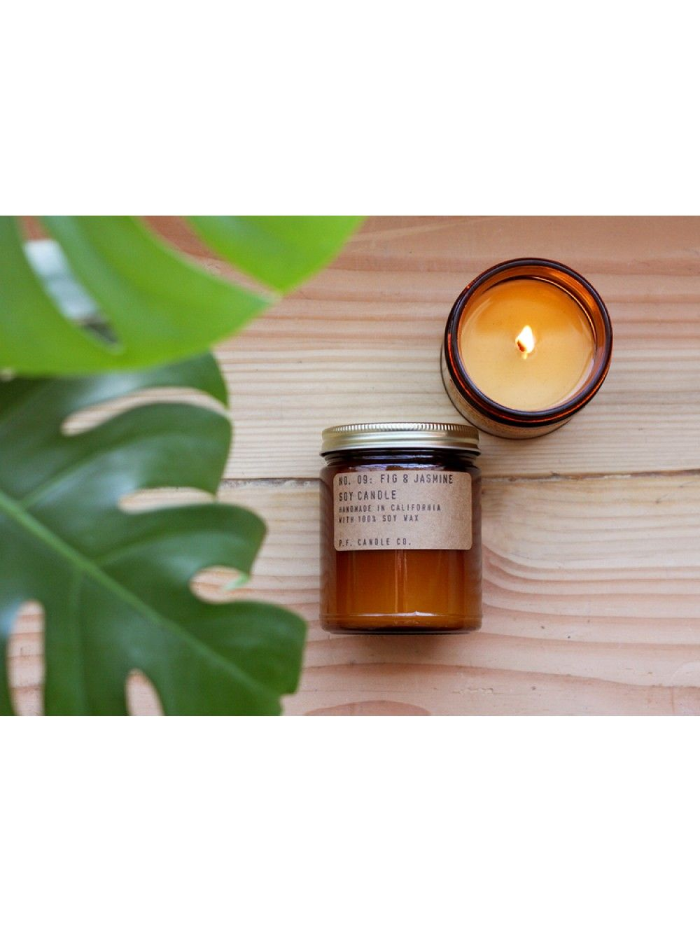 Pommes frites candle co fig jasmine candle soy wax