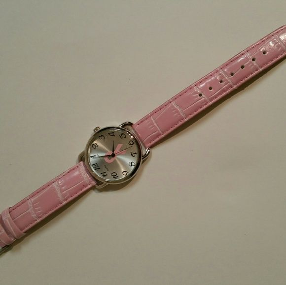 Pink ribbon breast cancer watch Needs a battery but never used. Will post more photos if requested. Accessories Watches