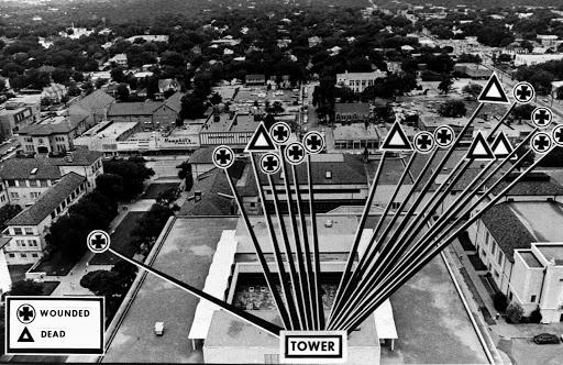 CHARLES WHITMAN'S CLOCK TOWER SHOOTING SPREE 1966 Tower