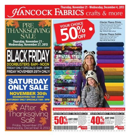 Did You Know That Some Black Friday Deals Aren T Really Deals Get The Scoop On The Best Sales From J Free Printable Coupons Hancock Fabrics Printable Coupons