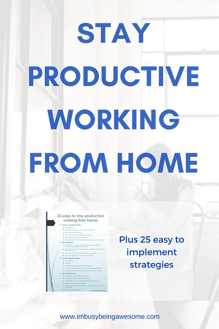 25 Simple Tricks to Stay Productive Working From Home | Productivity ...
