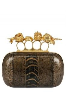 7bc2ed90d1 Women's Brown Embroidered Velvet Knuckle Box Clutch | BAGS #5 ...