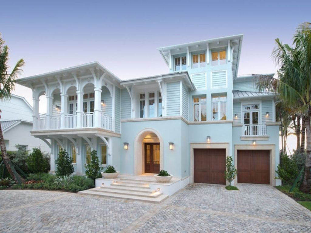 Awesome 38 Popular Beach House Exterior Color Ideas Beach House Exterior House Exterior Blue Exterior House Colors