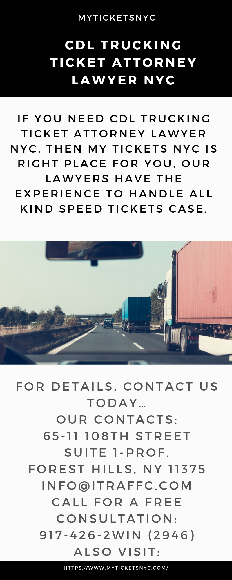 Nyc Traffic Ticket >> Pin By Myticketsnyc On Cdl Trucking Ticket Attorney Lawyer