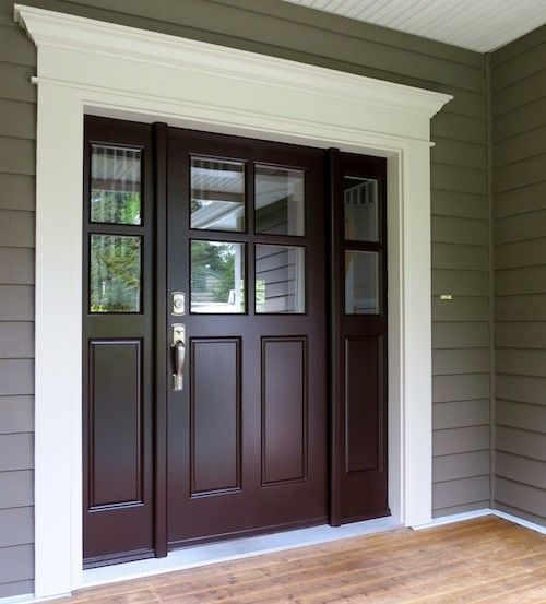 brown front doorfront door colour I paired it with Benjamin Moore Wenge AF180