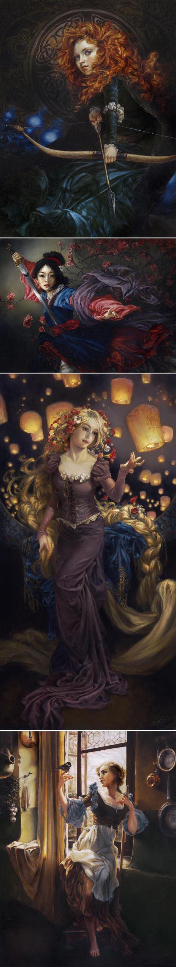 princesas da disney ilustradas com perfeição.