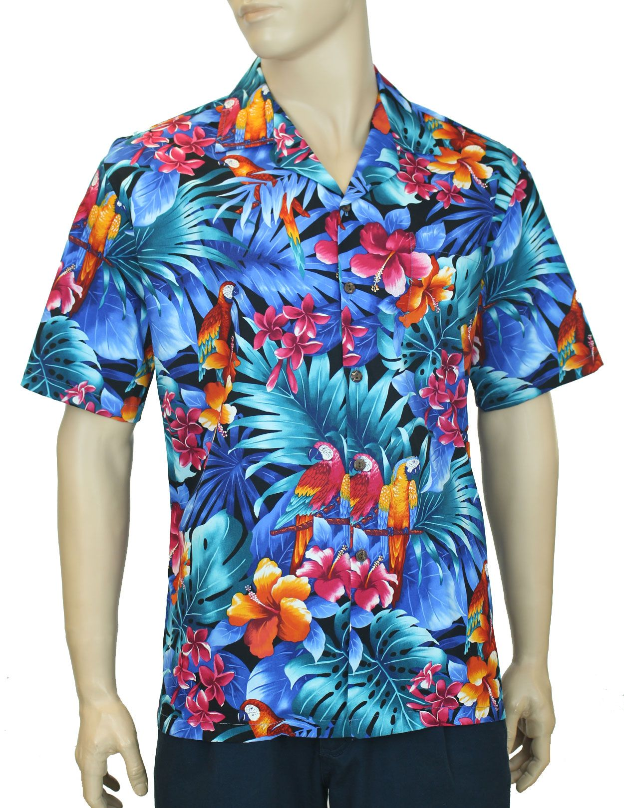535262e8c Check out the deal on Brazilian Forest Tropical Parrots Aloha Shirt at Shaka  Time Hawaii Clothing Store #hawaiianshirt #shirts #hawaiianshirts # alohashirt