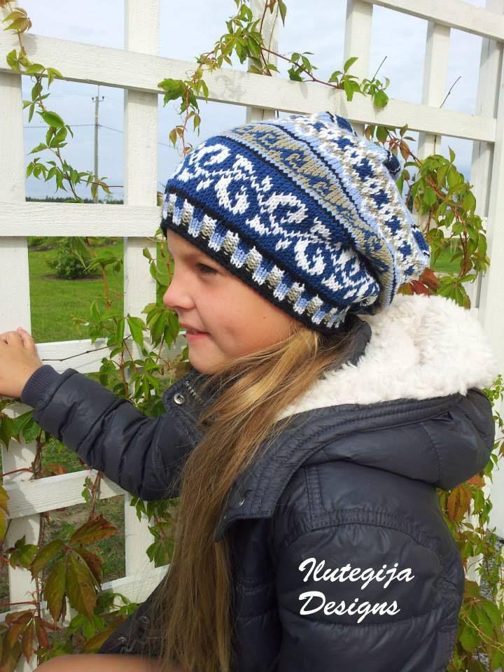 Ilutegija Designs hand knit fair isle hat for girls | Colorwork ...
