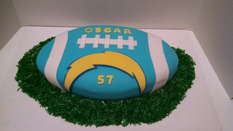 Chargers cake san diego chargers cake football themes
