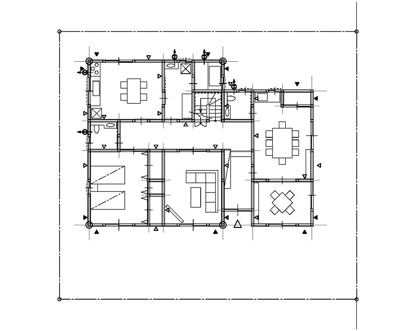 二級建築士step製図講座 ドア 家具 階段 設備機器などを書き込みます テンプレートを併用しながら書くと効率的です 階段や家具 設備機器などは いくつかの形状を覚えておき用紙のグリッド 455 455 を目安に書き込むと効率的です 製図 二級建築士 建築士