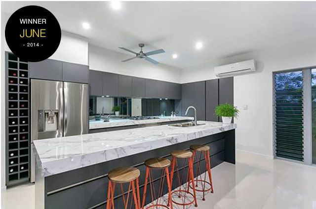 laminex kitchen design. Kitchen design  Entrant Tropical Trend Homes June Product used Laminex 180FX Carrera Marble Gloss