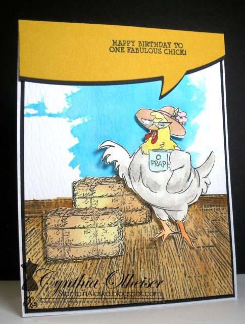 birthday humorous Spring Chicken I/'m Outdated Computer Greetings Card funny