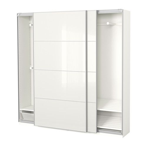 Pax Wardrobe White Färvik White Glass In 2018 Ikea Hacks