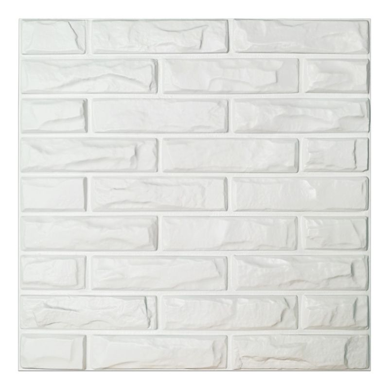 Pvc 3d Wall Panels White Brick Wall Tiles 19 7 X 19 7 12 Pack 3d Wall Panels Brick Wall Paneling Pvc Wall Panels